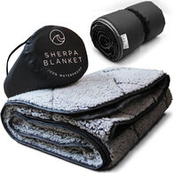 Oceas Waterproof Sherpa Blanket, Black