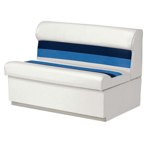"""Toonmate Deluxe Pontoon 55"""" Wide Lounge Seat with Toe Kick Base, White"""