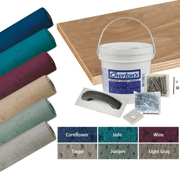 Overton's Blockade Carpet and Deck Kit, 8.5'W x 30'L
