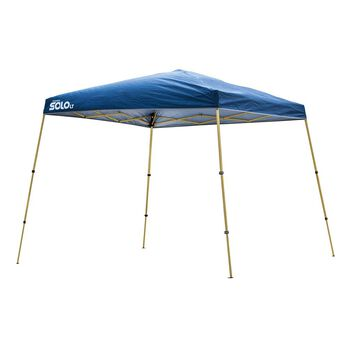 10x10 Quik Shade Solo LT 72 Instant Canopy - Blue/Gold