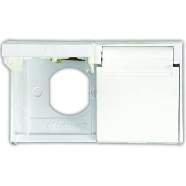 JR Products Duplex Weatherproof Outlet Cover, Polar White
