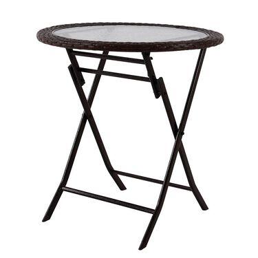 "Folding Rattan Table, 26.7"""