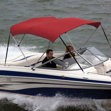 Shademate Polyester Stainless 3-Bow Bimini Top 6'L x 54''H 73''-78'' Wide