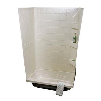 "ABS Tub Walls, 24"" x 40"" x 59"", Parchment"