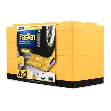 FasTen Heavy-Duty Leveling Blocks for Dual Wheels, Set of 10