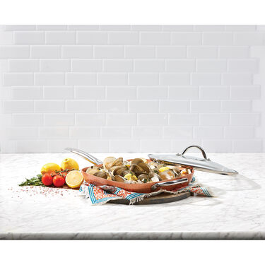 """Copper Chef™ 12"""" Square Frying Pan with Glass Lid"""