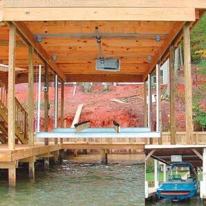 Doozie Boat House 4000-lb. Center Mount Kit With Overhead Beams