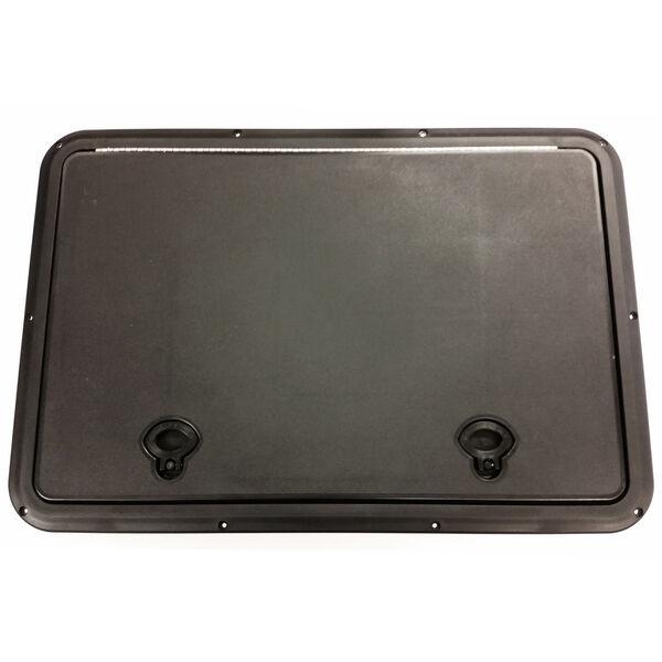 "DPI Marine DPF Black Flush Series Hatch Door, 16-3/4"" x 24-3/4"" O.D. frame"