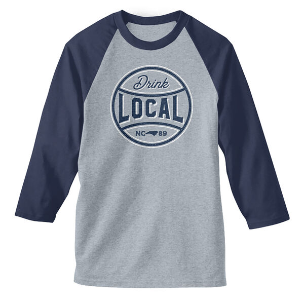 Men's Drink Local NC Baseball Tee