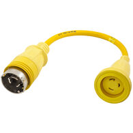 Hubbell Straight Adapter With 30A Locking Plug