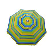 7 ft Beach Umbrella Lemon & Lime with Travel Bag