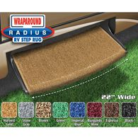 "Prest-O-Fit Wraparound Radius RV Step Rug, 22"", Harvest Gold"