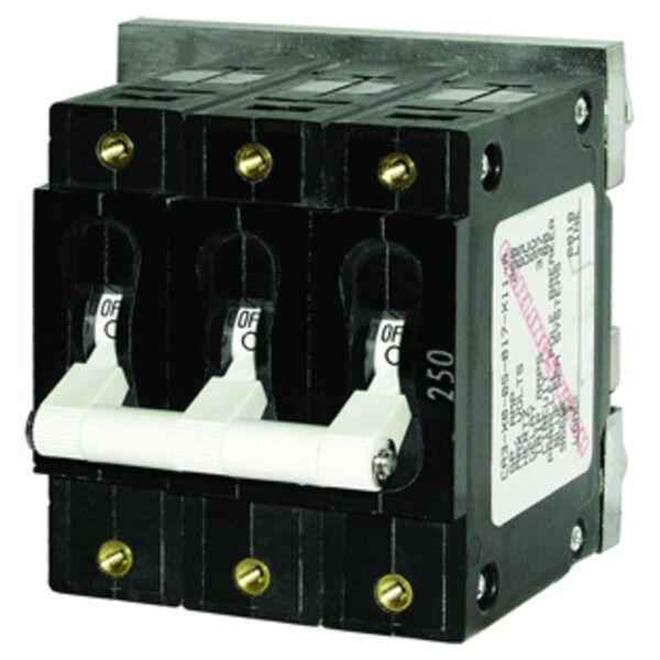 Blue Sea AC Circuit Breaker C-Series Toggle Switch, Triple Pole, 80A