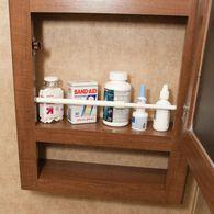 Single Cupboard Bar, 3-Pack - White