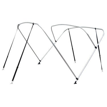 Shademate White Vinyl Stainless 3-Bow Bimini Top 6'L x 46''H 54''-60'' Wide