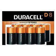 Duracell CopperTop Alkaline D Batteries, 8-Pack