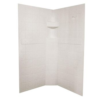 "ABS Neo Shower Walls, 34"" x 34"" x 67"", Parchment"
