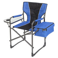 Mac Sports Folding Director's Chair with Side Table and Cooler, Royal Blue