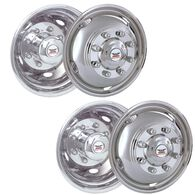 "Stainless Steel Wheel Simulators & Covers, 19.5"" 8-lug, Set of 4"