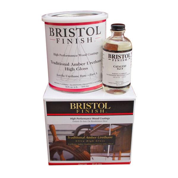 MAS Epoxies Bristol Finish Traditional Amber Urethane, Quart