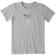 Life Is Good Women's Lake My Day Vintage Short-Sleeve Crusher Tee