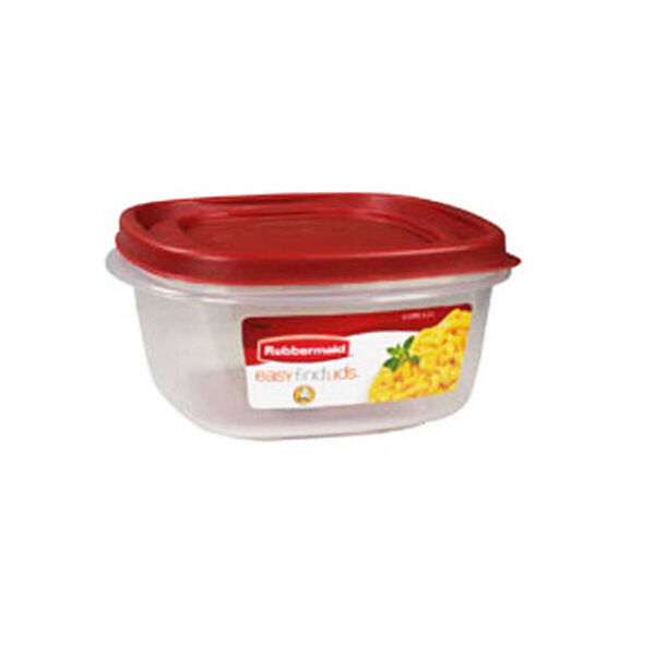 Rubbermaid 5-Cup Square Food Storage Container with Easy Find Lid