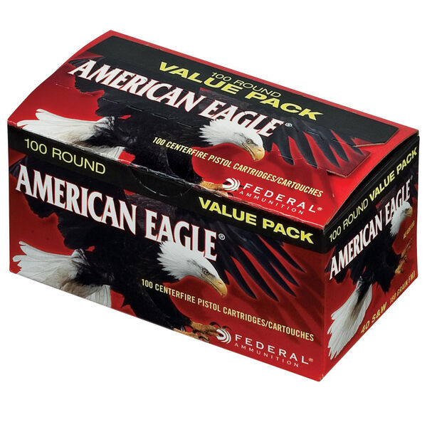 American Eagle Handgun Ammo 100-Round Value Pack, .40 S&W, 180-gr., FMJ