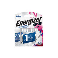 Energizer Ultimate Lithium AA Batteries (X Pack), 1.5V Lithium Double A Batteries