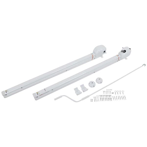 "Solera Universal Tall Awning Arms with Infinite Pitch, Tall 69"" , White"