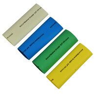 """Ancor Adhesive-Lined Heat Shrink Tubing Kit, 8-2/0 AWG, 3/4"""" dia, 3"""" L, Assorted"""