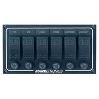 Paneltronics Waterproof Contura Switch Panel - 6-Switch Horizontal