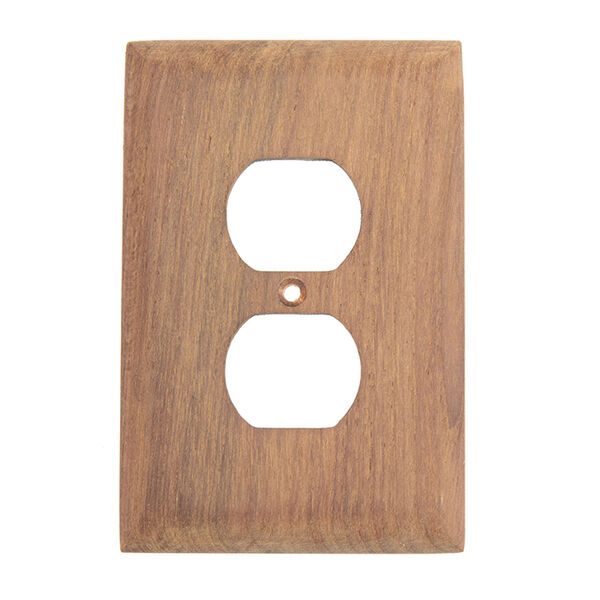 Whitecap Teak Outlet Cover, Receptacle Plate