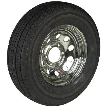 Goodyear Endurance ST225/75 R 15 Radial Trailer Tire, 6-Lug Chrome Modular Rim