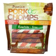Pork Chomps Rawhide Twists, 12 ct
