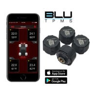 BLU Tire Pressure & Temperature Monitoring System, External 1-100psi, Set of 4