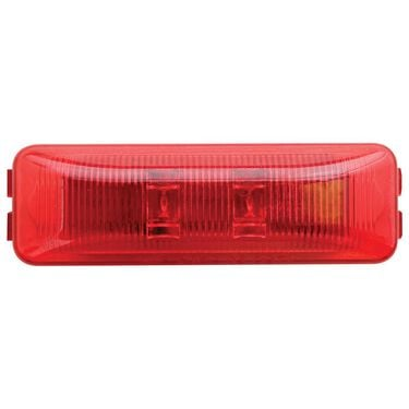 LED Thinline Marker/Clearance Light; Base and Mounting Hardware Included; Red, Sealed; 1 Diodes