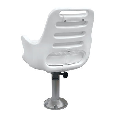 "Wise Ladder Back Pilot Chair w/15"" Pedestal, Mounting Plate, and Seat Spider"