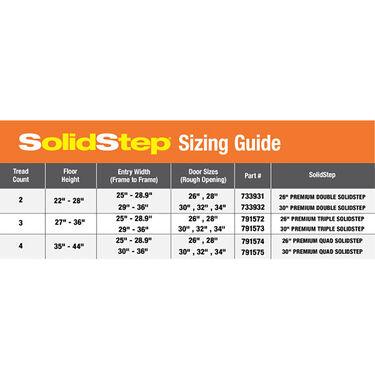 """SolidStep™ RV Steps, 30"""" Triple Step"""