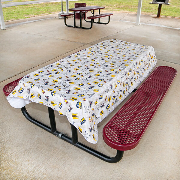 """Campground Tablecloth, 82"""" x 54"""""""