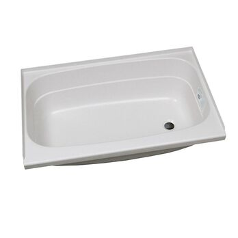 "Replacement ABS Bath Tub, 24"" x 38"", White with Right Drain"