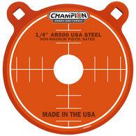 "Champion Targets Center Mass 1/4"" Gong 8"" AR500 Steel Target"