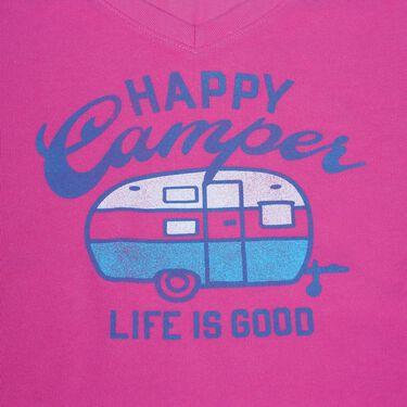 Life Is Good Women's Happy Camper Tee, Large