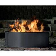 Solid 3 Piece Fire Ring, 38""