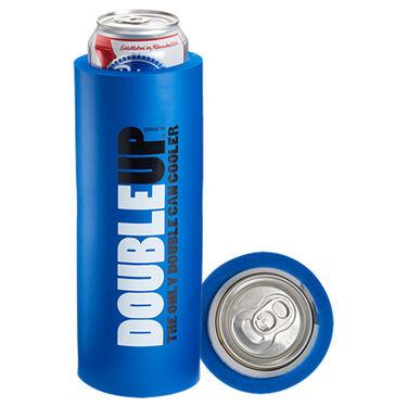 DoubleUp Double Can Cooler, Blue