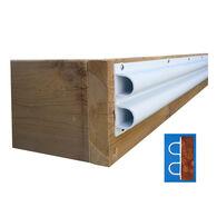 "Dock Edge Premium PVC Double ""D"" Profile, White, 40'"