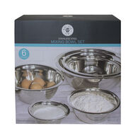 Monochrome Home 6-Piece Stainless Steel Mixing Bowl Set