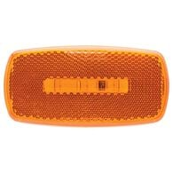Oval LED Clearance/Marker Light; Replaceable Lens; Fleet Count; Amber