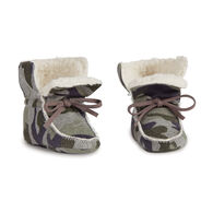 Mud pie Infant Boys' Camo Print Sherpa Baby Booties
