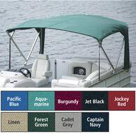 "Buggy Style Pontoon Bimini Top Sunbrella Acrylic, 1"" Standard Frame 90""-96"" Wide"