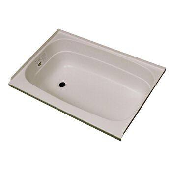 """Replacement ABS Bath Tub, 24"""" x 40"""", Parchment with Left Drain"""